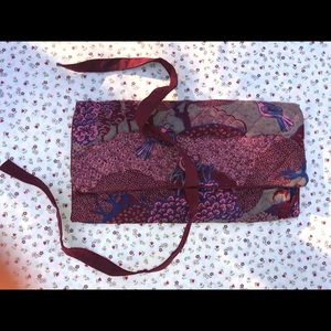 Vintage fabric Jewelry roll